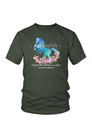 Sagittarius Horse Unisex Shirt-T-shirt-teelaunch-District Unisex Shirt-Olive-S-Three Wild Horses