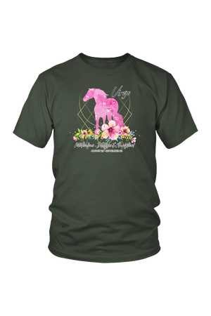 Virgo Horse Unisex Shirt-T-shirt-teelaunch-District Unisex Shirt-Olive-S-Three Wild Horses