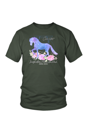 Cancer Horse Unisex Shirt-T-shirt-teelaunch-District Unisex Shirt-Olive-S-Three Wild Horses