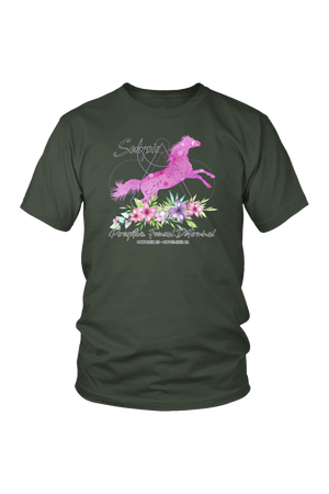 Scorpio Horse Unisex Shirt-T-shirt-teelaunch-District Unisex Shirt-Olive-S-Three Wild Horses