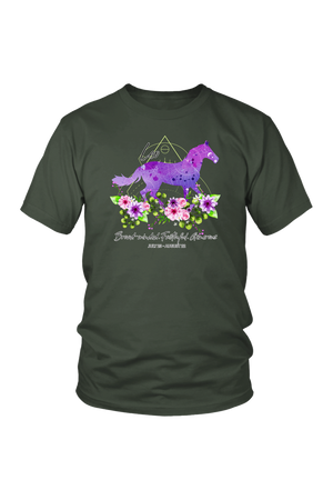 Leo Horse Unisex Shirt-T-shirt-teelaunch-District Unisex Shirt-Olive-S-Three Wild Horses