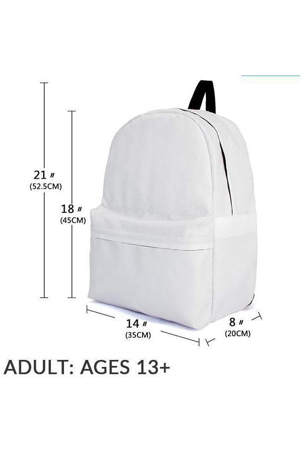 White Horse Backpack-Bags-Pillow Profits-Adult (Ages 13+)-Three Wild Horses