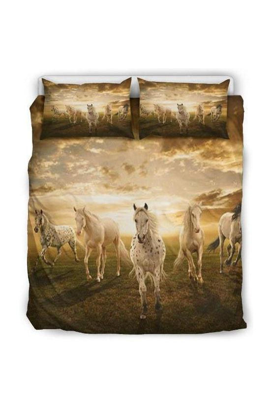 Horse Print Bedding Set