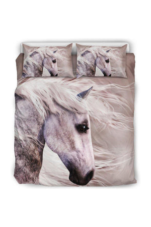 Blowing Wind Horse Bedding Set-Beddings-Pillow Profits-Black-Queen/Full-Three Wild Horses