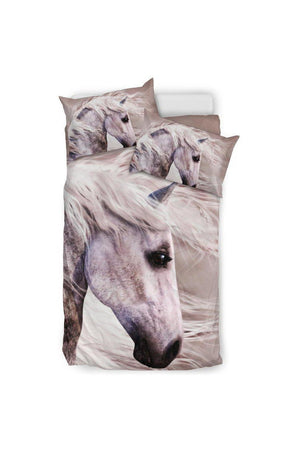 Blowing Wind Horse Bedding Set-Beddings-Pillow Profits-Black-Twin-Three Wild Horses