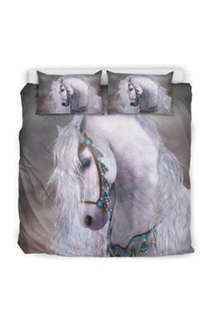 Gray Horse Print Bedding Set