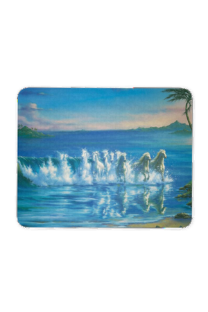 Run with the Waves - Mouse Pad-Mousepads-teelaunch-Mouse pad-Three Wild Horses