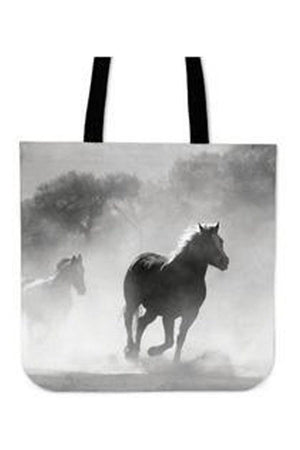 Gray Clouded Horse - Tote Bag