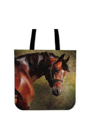 Black Chestnut Horse - Tote Bag