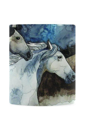 Three Wild Horses White Mug by Kim Winberry-Mugs-interestprint-One Size-Three Wild Horses