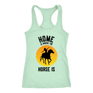 Light Gray Home is Where The Horse Is - T-Shirt