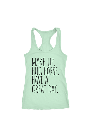 Light Gray Hug Horse Have A Great Day Horse T-Shirt