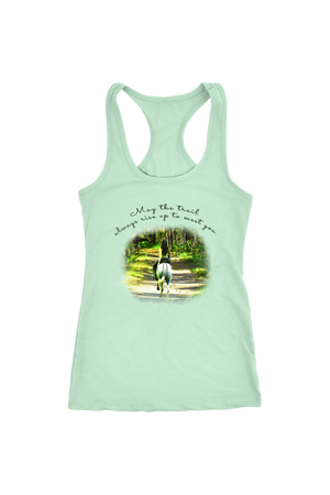 The Trail Always Rise - Tops-T-shirt-teelaunch-Racerback Tank-Mint-S-Three Wild Horses