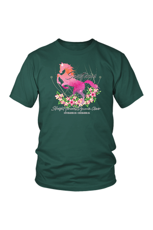 Sagittarius Horse Unisex Shirt-T-shirt-teelaunch-District Unisex Shirt-Dark Green-S-Three Wild Horses