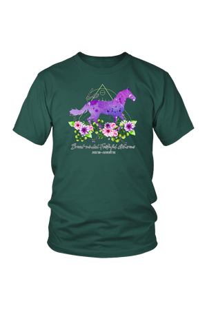 Leo Horse Unisex Shirt-T-shirt-teelaunch-District Unisex Shirt-Dark Green-S-Three Wild Horses