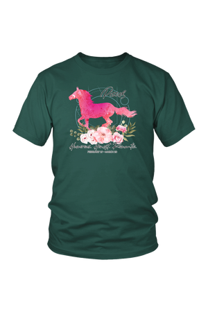 Pisces Horse Unisex Shirt-T-shirt-teelaunch-District Unisex Shirt-Dark Green-S-Three Wild Horses