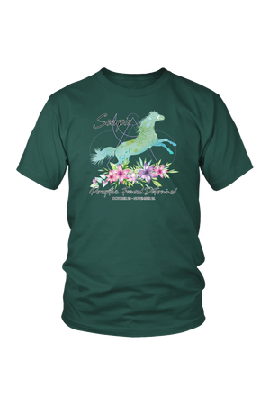 Scorpio Horse Unisex Short-T-shirt-teelaunch-District Unisex Shirt-Dark Green-S-Three Wild Horses