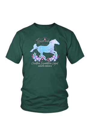 Aquarius Horse Unisex Shirt-T-shirt-teelaunch-District Unisex Shirt-Dark Green-S-Three Wild Horses