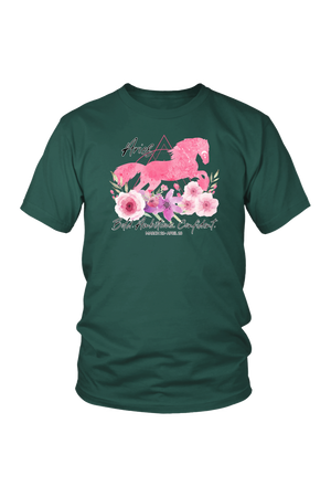 Aries Horse Unisex Shirt-T-shirt-teelaunch-District Unisex Shirt-Dark Green-S-Three Wild Horses