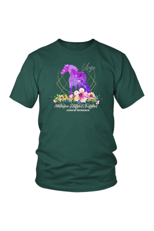 Virgo Horse Unisex Shirt-T-shirt-teelaunch-District Unisex Shirt-Dark Green-S-Three Wild Horses