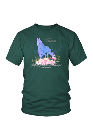 Taurus Horse Unisex Shirt-T-shirt-teelaunch-District Unisex Shirt-Dark Green-S-Three Wild Horses