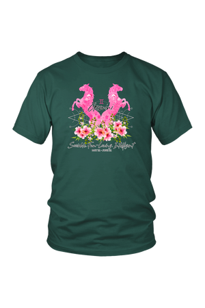 Gemini Horse Unisex Shirt-T-shirt-teelaunch-District Unisex Shirt-Dark Green-S-Three Wild Horses