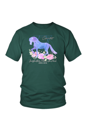 Cancer Horse Unisex Shirt-T-shirt-teelaunch-District Unisex Shirt-Dark Green-S-Three Wild Horses