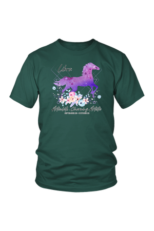 Libra Horse Unisex Shirt-T-shirt-teelaunch-District Unisex Shirt-Dark Green-S-Three Wild Horses