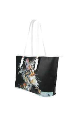Max_CMYK-leather tote Leather Tote Bag (Model 1651) (Big)-Tote bags-interestprint-One Size-Three Wild Horses