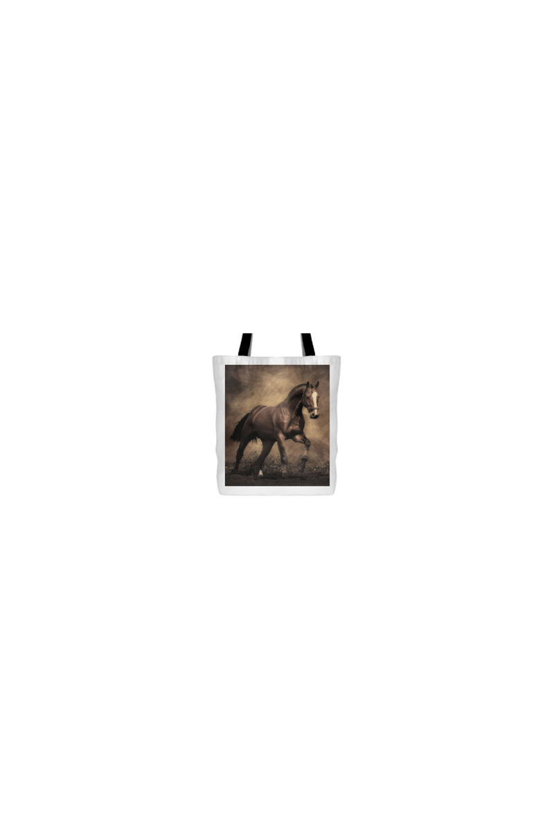 Horse and Dirt - Tote Bag-Tote Bags-teelaunch-Tote Bag-Three Wild Horses