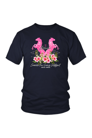 Gemini Horse Unisex Shirt-T-shirt-teelaunch-District Unisex Shirt-Navy-S-Three Wild Horses