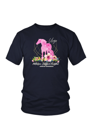 Virgo Horse Unisex Shirt-T-shirt-teelaunch-District Unisex Shirt-Navy-S-Three Wild Horses