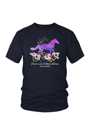 Leo Horse Unisex Shirt-T-shirt-teelaunch-District Unisex Shirt-Navy-S-Three Wild Horses