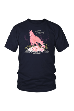Taurus Horse Unisex Shirt-T-shirt-teelaunch-District Unisex Shirt-Navy-S-Three Wild Horses