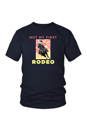Not My First Rodeo Horse Shirt-T-shirt-teelaunch-Unisex Tee-Navy-S-Three Wild Horses