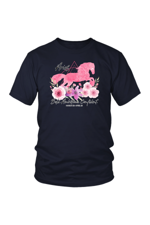 Aries Horse Unisex Shirt-T-shirt-teelaunch-District Unisex Shirt-Navy-S-Three Wild Horses