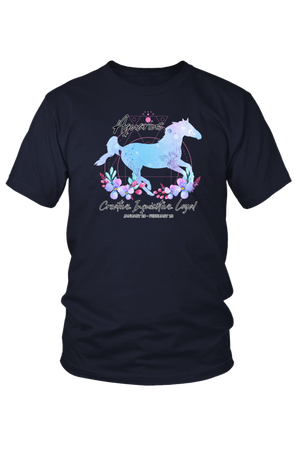 Aquarius Horse Unisex Shirt-T-shirt-teelaunch-District Unisex Shirt-Navy-S-Three Wild Horses