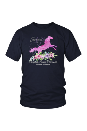 Scorpio Horse Unisex Shirt-T-shirt-teelaunch-District Unisex Shirt-Navy-S-Three Wild Horses