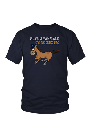 Replacement Tee - Please Remain Seated-Tops-teelaunch-District Unisex Tee-Navy-S-Three Wild Horses