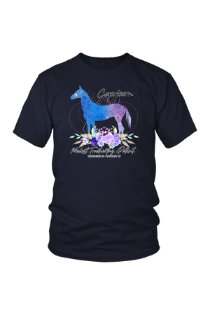 Capricorn Horse Unisex Shirt-T-shirt-teelaunch-District Unisex Shirt-Navy-S-Three Wild Horses