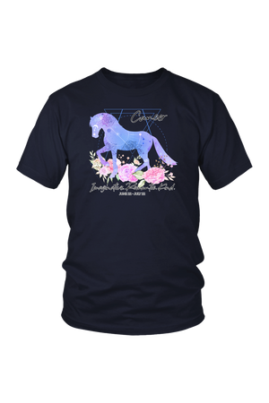 Cancer Horse Unisex Shirt-T-shirt-teelaunch-District Unisex Shirt-Navy-S-Three Wild Horses
