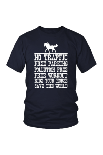 Ride Your Horse, Save the World - Tops-Tops-teelaunch-Unisex Tee-Navy-S-Three Wild Horses