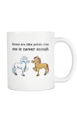 Horses Are Like Potato Chips - Mug-Drinkware-teelaunch-COFFEE MUG 11 OZ-Three Wild Horses