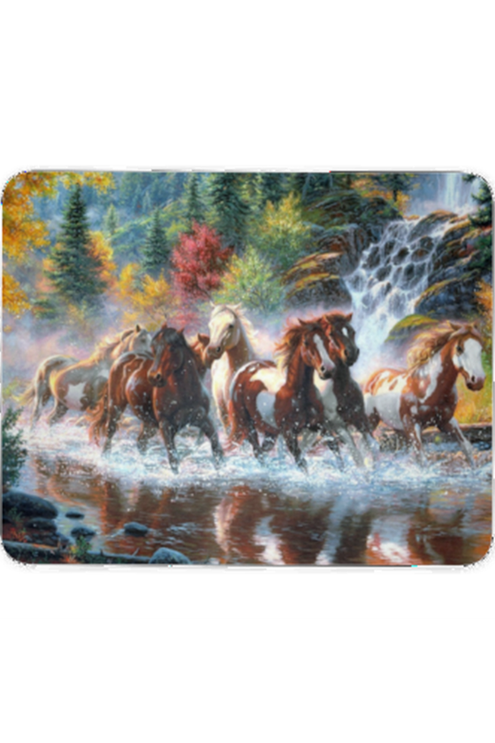Forest Wild Horses - Mouse pad