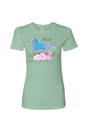 Pisces Horse Shirt for Women-T-shirt-teelaunch-Next Level Womens Shirt-Mint-S-Three Wild Horses