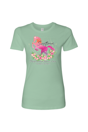 Sagittarius Horse Shirt for Women-T-shirt-teelaunch-Next Level Womens Shirt-Mint-S-Three Wild Horses