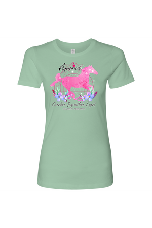 Aquarius Horse Shirt for Women-T-shirt-teelaunch-Next Level Womens Shirt-Mint-S-Three Wild Horses