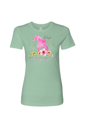 Virgo Horse Shirt for Women-T-shirt-teelaunch-Next Level Womens Shirt-Mint-S-Three Wild Horses
