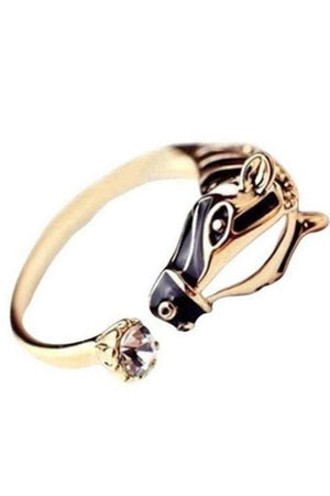 Bisque Wild Horse Gold Ring