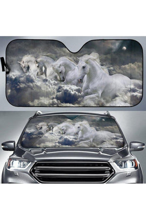 Dark Gray Horse Sun Shade
